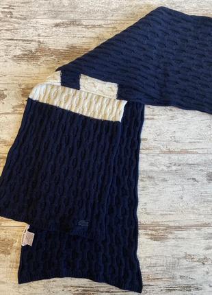 Женский большой шарф lacoste палантин снуд парео  скейч  оригинал шерстяной шерсть кашемировый широк