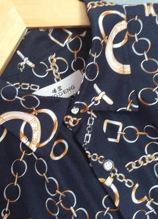 Стильная рубашка в принт цепи