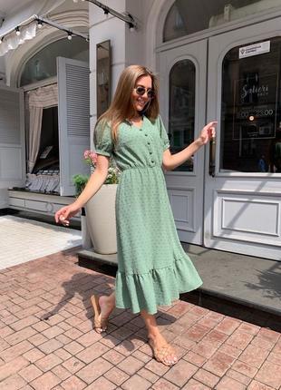Платье женское летнее миди длинное легкое свободное нарядное