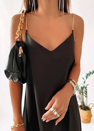 Женское платье комбинация свободного кроя