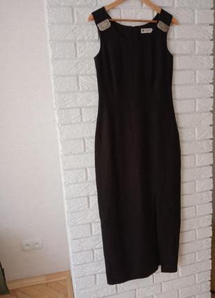 Стильне лляне плаття максі