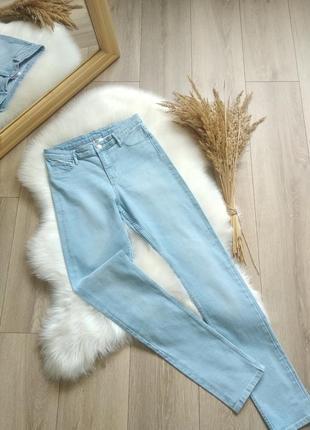 H&m denim голубі джинси skinny на високій посадці повсягденні штани стрейчиві розмір xs s для дівчинки підлітка