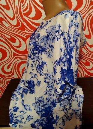 Легенькая натуральная блузка от известного бренда р. 52-58