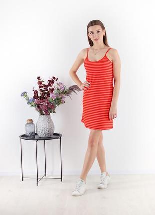 Платье летнее короткое сарафан в полосочку легкое на бретелях
