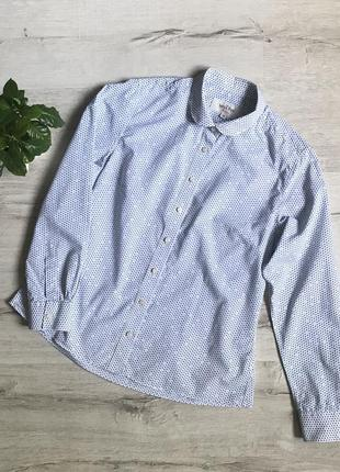 Женская белая рубашка в горошек savile row разм.s