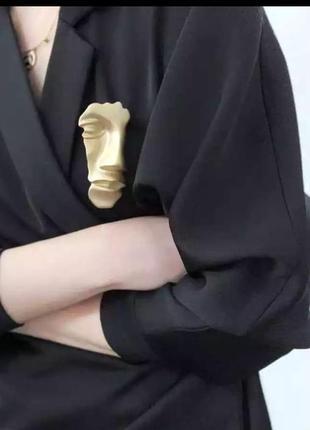 Брошь /кулон маска лицо