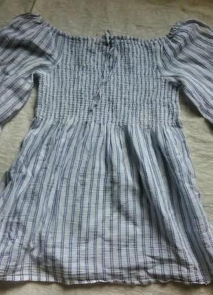 Блузка туника хлопок марлевка в полосочку