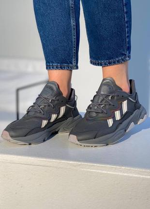 Adidas ozweego dark grey/mint