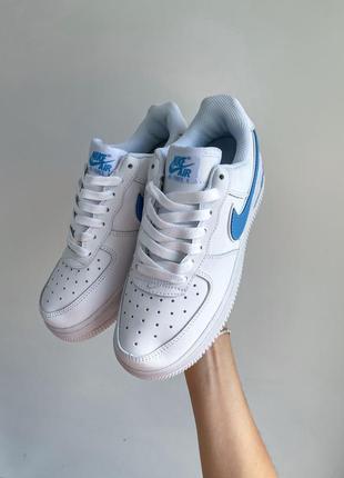 Air force 1 nike кроссовки женские синее лого