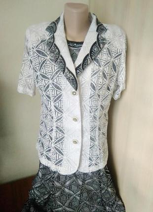 Нарядний комплект / костюм сукня + піджак/красивый набор платье с жакетом