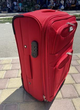 Акция !качественный чемодан на 2 колеса ,надёжный ,вместительный ,валіза ,дорожная сумка4 фото