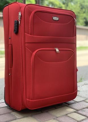 Акция !качественный чемодан на 2 колеса ,надёжный ,вместительный ,валіза ,дорожная сумка