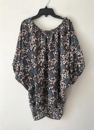 Tolani шелковая блуза с объемными рукавами-буффами