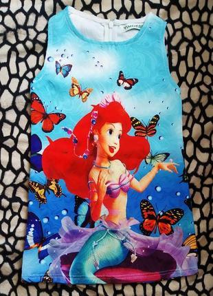 Красивое яркое платье русалочка  ариэль ariel