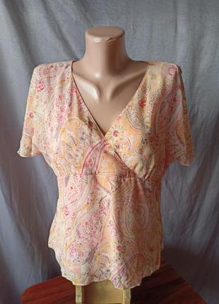 Шёлковая красивая нежная блузка шёлк 100%
