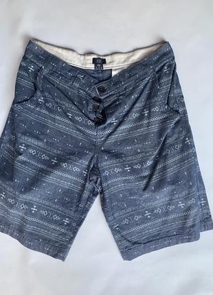 Стильные мужские трикотажные шорты с принтом f&f размер 34