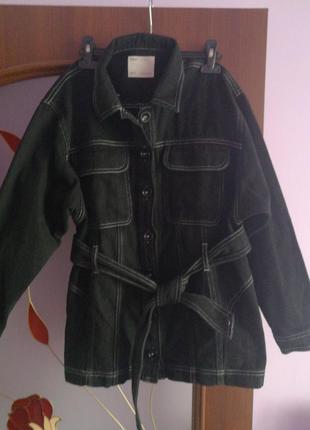 Куртка джинсовая, рубашка
