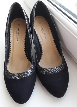 Emilio lucax-премиум бренд!!!   туфли замш р.39(25.5см) туфлі emilio lucax