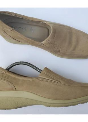 Кожаные мокасины лоферы туфли ✨ecco✨ слипоны