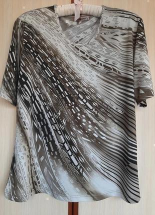 Блуза с коротким рукавом вискоза италия