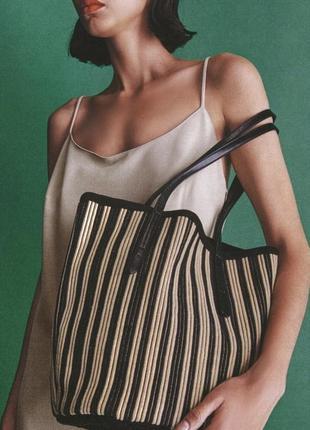 Тканевая сумка - шопер zara