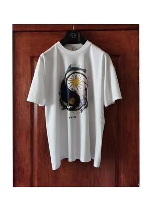 Футболка оверсайз унисекс хлопок белая футболка