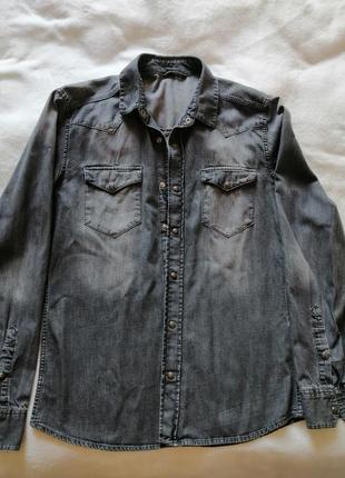 Рубашка с длинным рукавом на кнопках, р.м