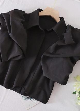 Женская коттоновая блуза с коротким рукавом