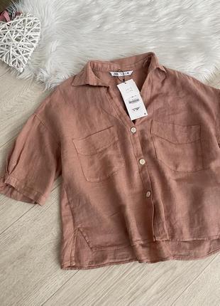 Свободная льняная рубашка от zara