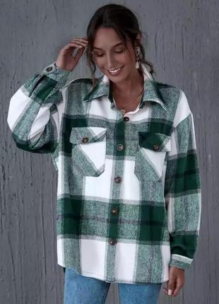 Женская повседневная клетчатая рубашка zara , куртка на пуговицах с карманам