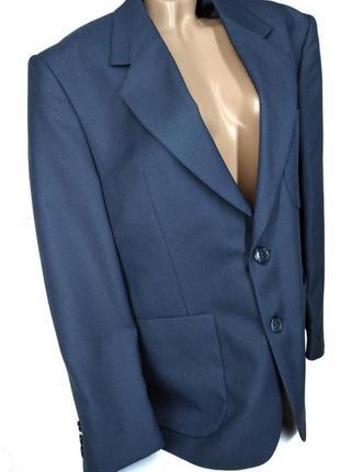 🛍️super sale -50%🛍️идеальный темно синий пиджак с мужского плеча size 42