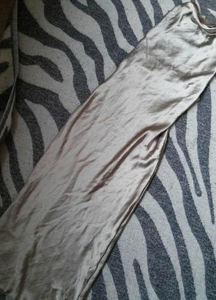 Шелковое платье миди комбинация в бельевом стиле атласное s