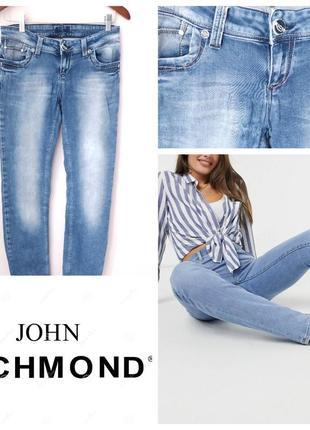 Голубые выбеленные джинсы john richmond оригинал m l