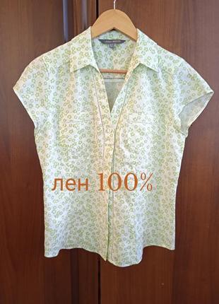 """Р.10 """"laura ashley"""" льняная блуза, натуральный топ лен 100%"""