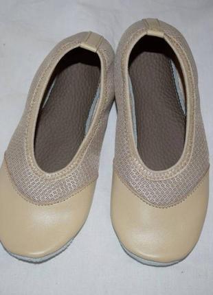 Чешки-балетки со стрейч-сеткой