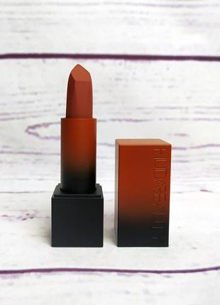 Матовая губная помада huda beauty power matte lipstick - first kiss