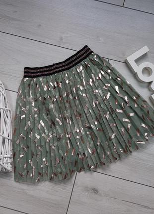 Фатиновая юбка плиссе tu с блестками