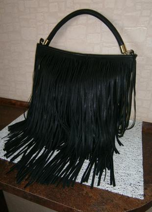 Стильная. большая сумка с бахромой. h&m