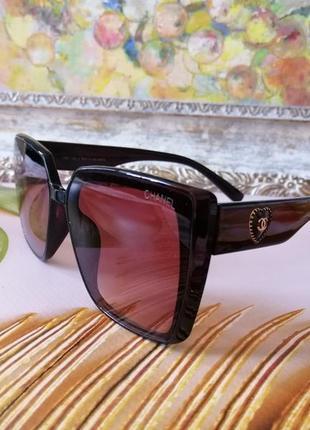 Эксклюзивные брендовые коричневые солнцезащитные женские очки 2021