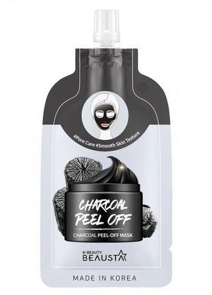 Маска-пилинг для лица beausta charcoal peel off mask 20ml