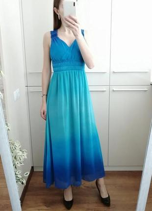Красивое летнее платье омбре 🌺