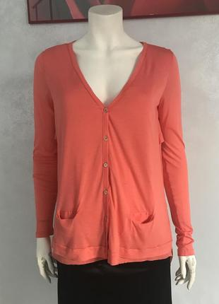 Patrizia pepe  блуза . лонгслив на пуговицах с шифоновой спинкой 46-48