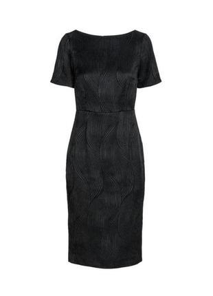Черное платье по колено, платье футляр, классическое платье