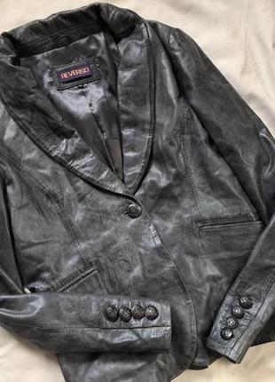 Кожаный пиджак от reverso , пиджак кожа мягенькая