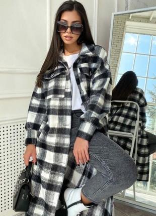Трендовая/новинка/новой коллекции – пальто-рубашка.