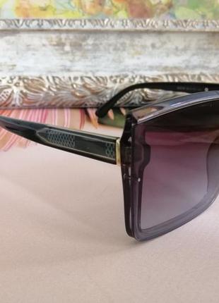 Эксклюзивные брендовые квадратные серые солнцезащитные женские очки 2021 окуляри4 фото