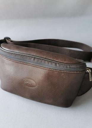 Longchamp кожаная поясная сумка