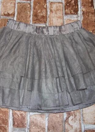 Нарядная пышная юбка с фатина девочке 7 - 8 лет h&m