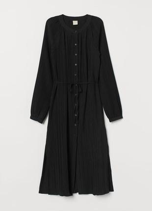 Плиссированное минималистичное платье h&m trend