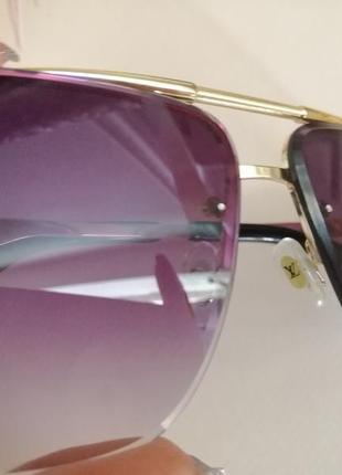 Эксклюзивные брендовые солнцезащитные очки унисекс металлической оправе 20216 фото